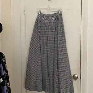Full length gingham j crew skirt